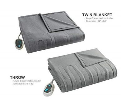 Beautyrest Heated Fleece Blanket Throw Combo info - Topratedhomeproducts