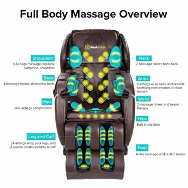 Real Relax Massage Chair Recliner topratedhomeproducts info