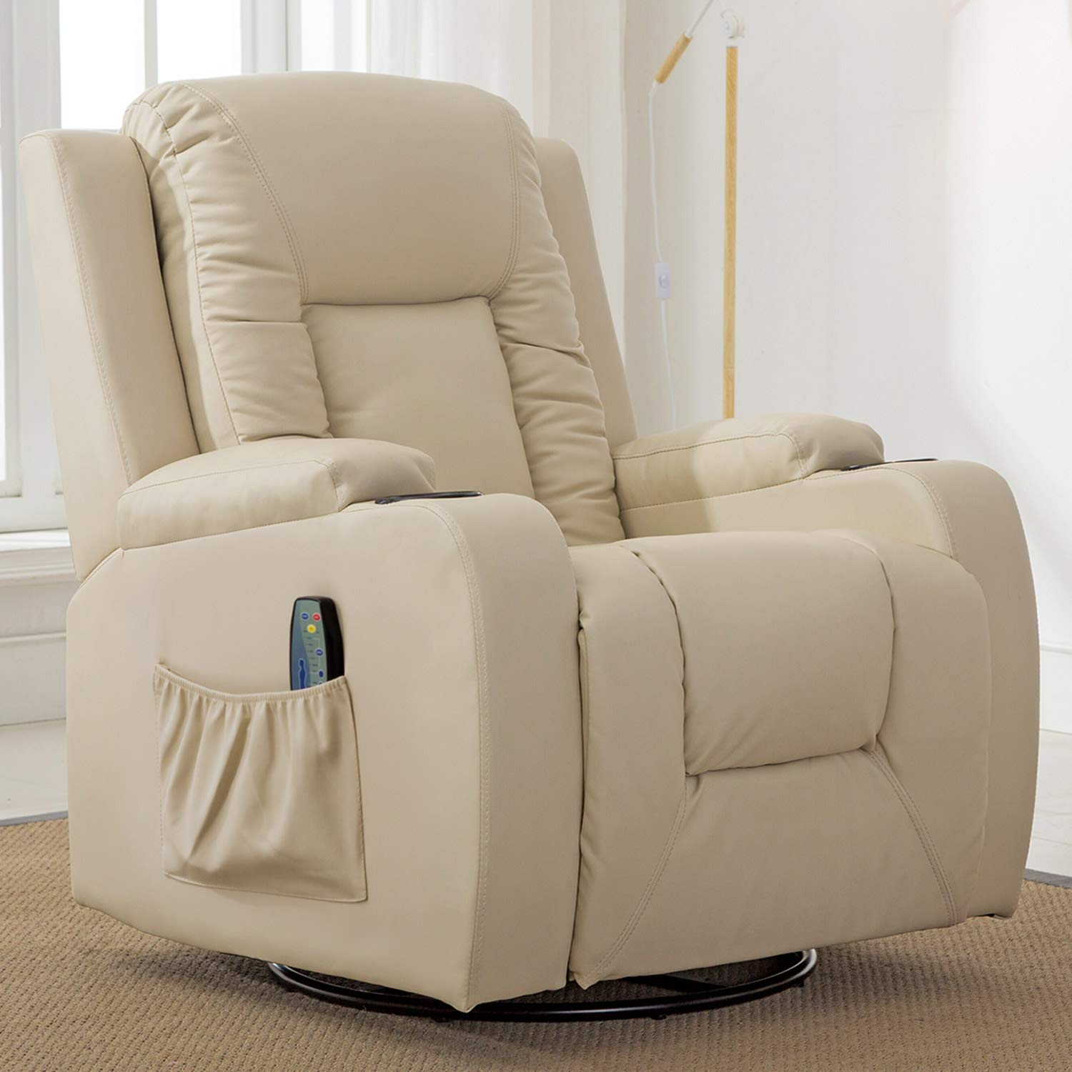 ComHoma Leather Recliner Heated Massage Chair