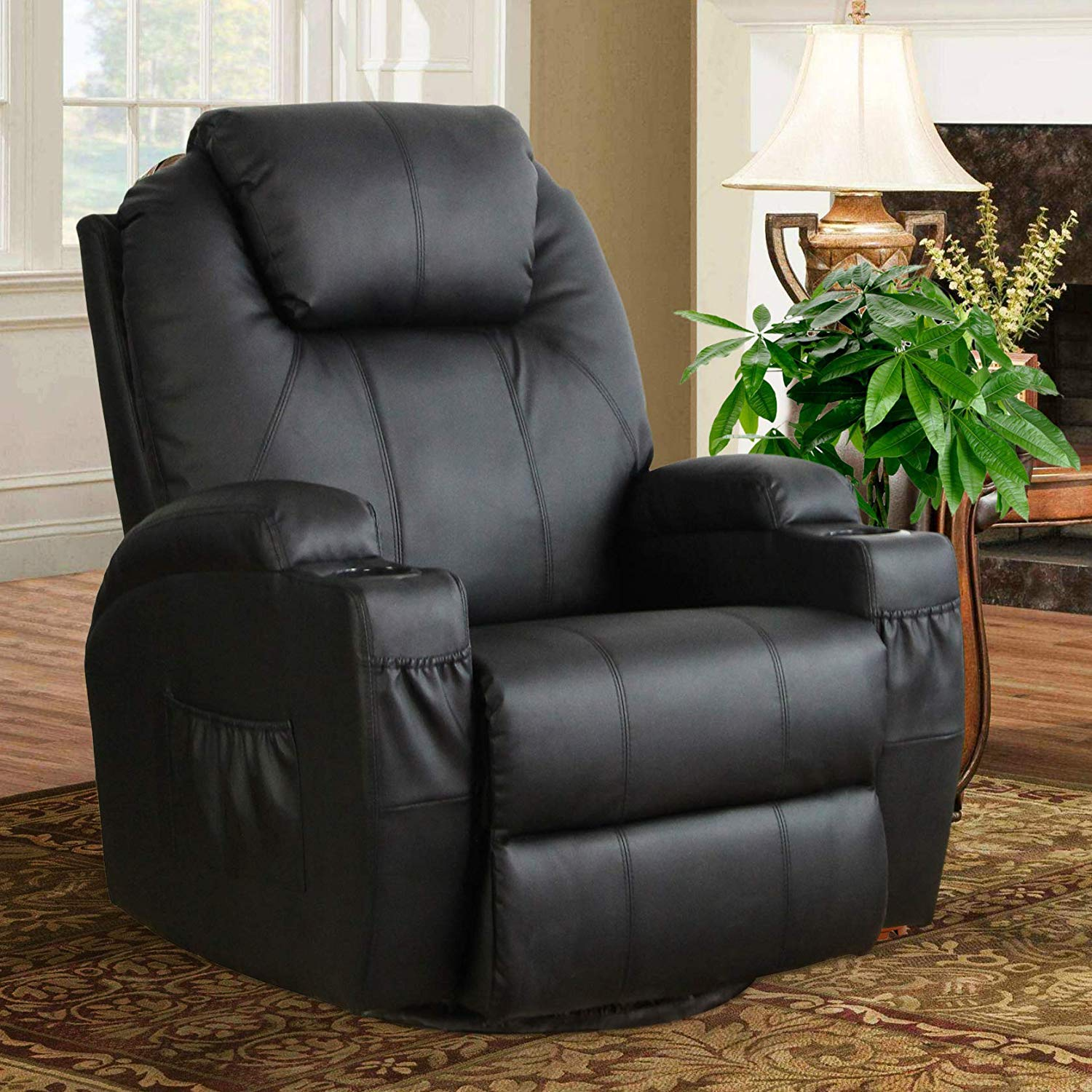 Esright Heated Massage Recliner 360 Degree Chair
