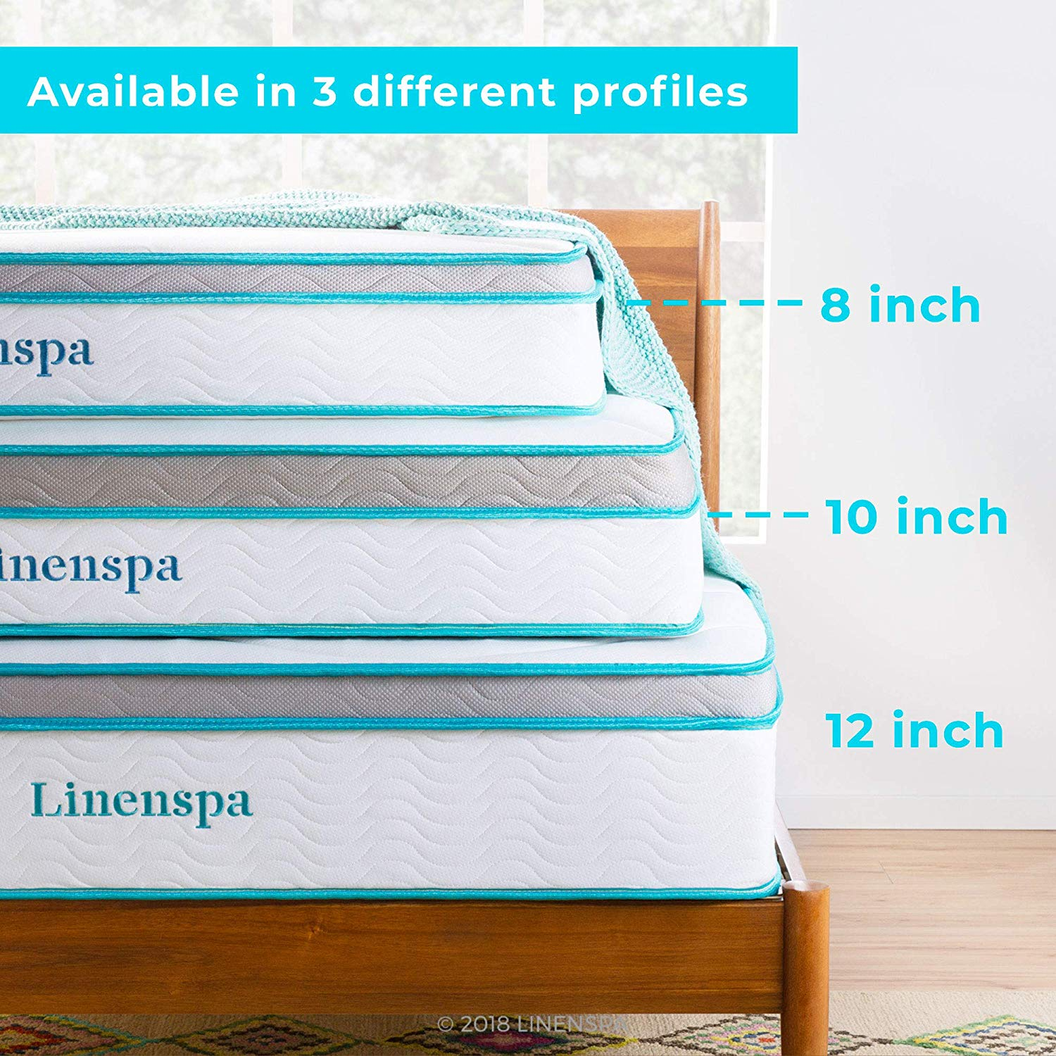 LINENSPA Innerspring Best hybrid mattress size