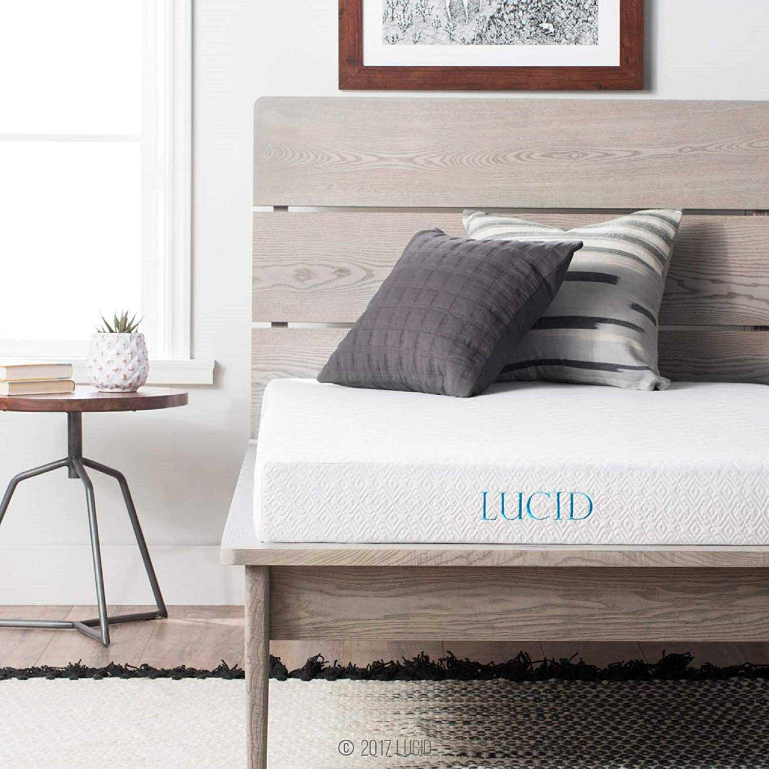 LUCID gel memory foam mattress topratedhomeproducts