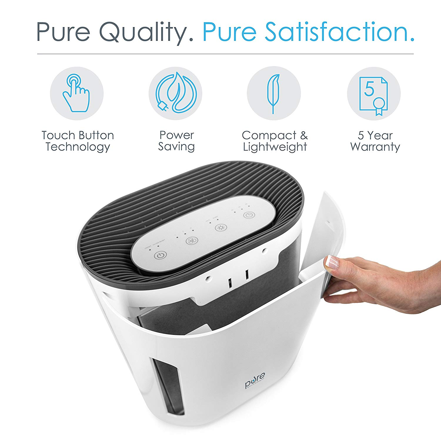 Pure Enrichment PureZone 3-in-1 True HEPA Air Purifier main