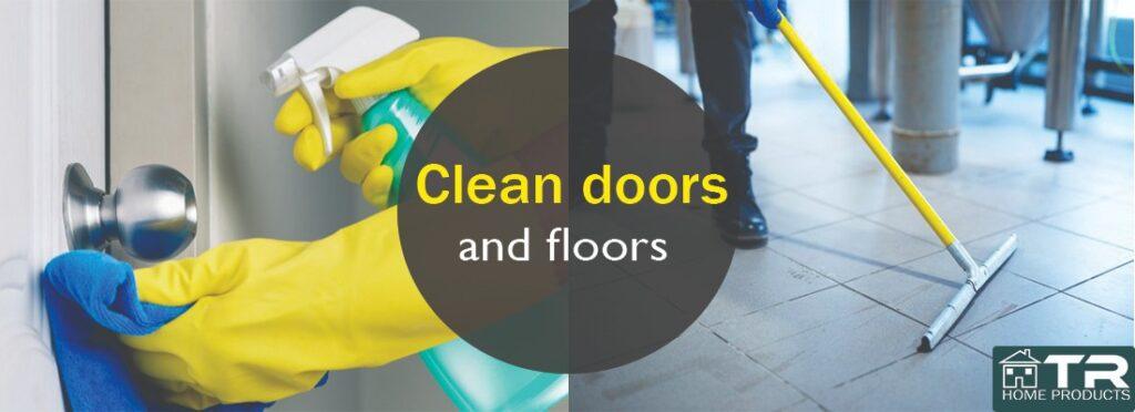 Clean door and floors