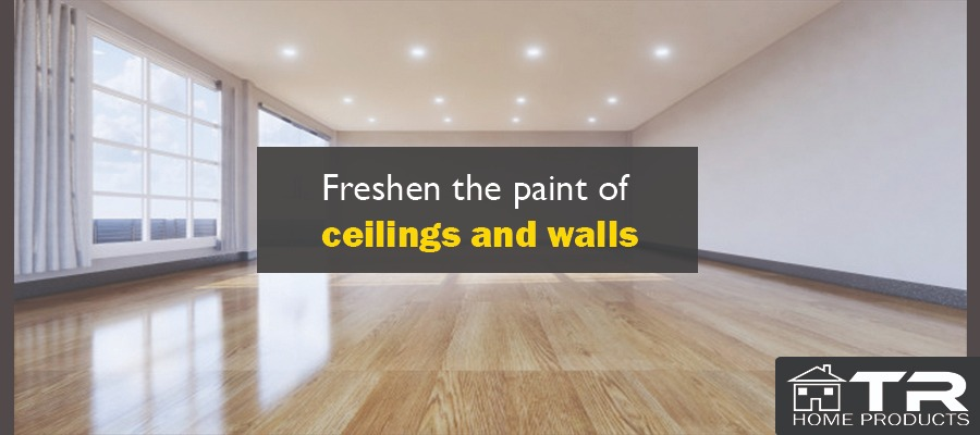 Freshen the paint of ceilings and walls