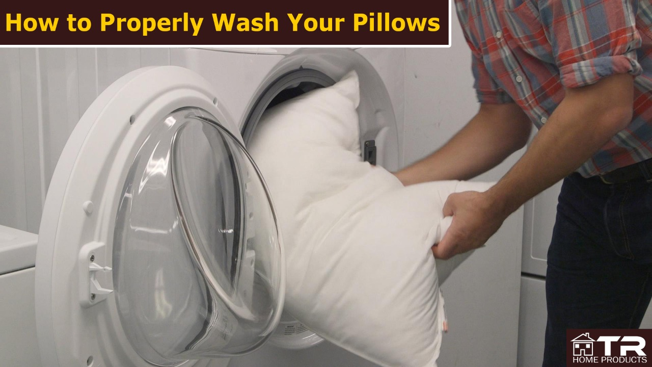 how to properly wash your pillow